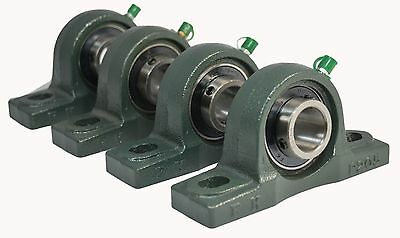 "(Qty. 4) UCP206-20 1-1/4"" Solid Base Pillow Block Bearing Unit"