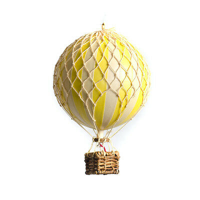 Authentic Models Small Model Hot Air Balloon Yellow Mobile