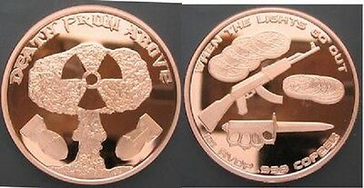 2015 Death From Above 1 oz .999 Copper BU Round USA Made American Bullion Coin