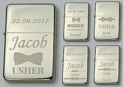 USHER Personalised lighter IN METAL TIN  - FREE Engraved - WEDDING GIFT