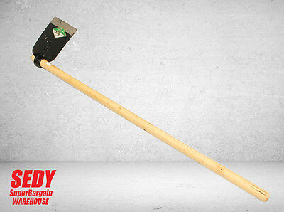 90cm Flat Hoe With Wooden Handle Flat Mattock Gardening Farming Hand Tool NEW