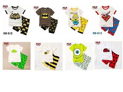New  Baby Boy Pyjamas Cute Designs Shorts Sleeved Size At 2.3.4.5.6.7