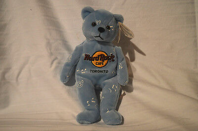 "New Hard Rock Cafe Blue W/ Music Notes Toronto ""music For Life"" Bear 2002 Nwt"