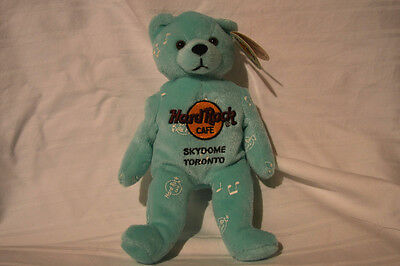 "New Hard Rock Cafe Blue/green Skydome Toronto Bear ""music For Life"" 2002 Rare"