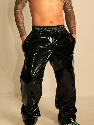 White /& Black NOW WITH POCKETS PVC Track Pants S 4XL