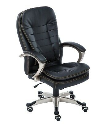 WestWood Executive Office Chair – Leather Swivel Computer High Back OC01 Black