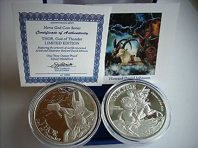 The Norse God Coin Series Thor - Valkyrie 1 oz .999 Silver Proof Round USA Coin