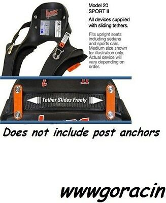 Hans Device Large Model 20 Degree Sport II w/Sliding Tethers W/O Post Anchors *