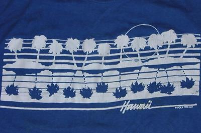 80s Vintage Poly Tees Hawaii Blue T Shirt S
