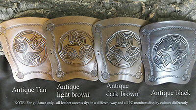 Bigfootleather archery arm guard,traditional bracer, choose a design and colour