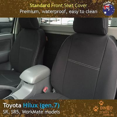 Toyota Hilux (Apr 05-Aug 15) FRONT Premium Waterproof Neoprene Seat Covers