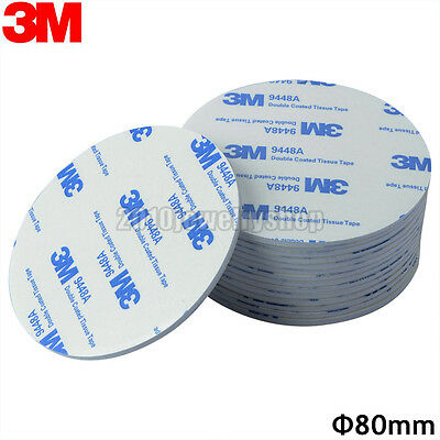 3M EVA Foam Double Sided Adhesive Tape Pad Mounting Tape 80mm Round White