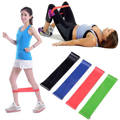 4 Resistance Band Tube Set Home Gym Fitness Exercise Workout Heavy Yoga Training