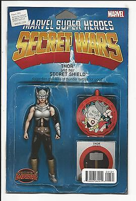Thors # 1 (Marvel Secret Wars, Action Figure Variant, Aug 2015), Nm New