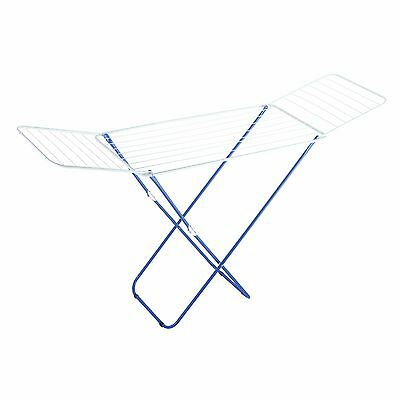Indoor Clothes Airer Dryer Drying Rack 18m Folding Winged Laundry Washing Light