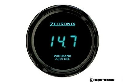 Zeitronix Zt-3&ZR-3 Wideband Gauge with Data Logging (BLUE Digits / Black Beze)