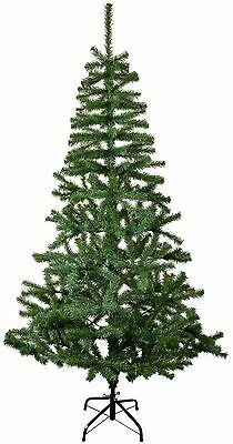 6ft (180cm) Artificial Pine Traditional Christmas / Xmas Tree With Metal Stand