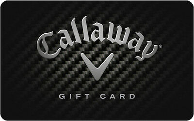 $50 Callaway Golf Physical Gift Card - FREE Standard 1st Class Mail Delivery
