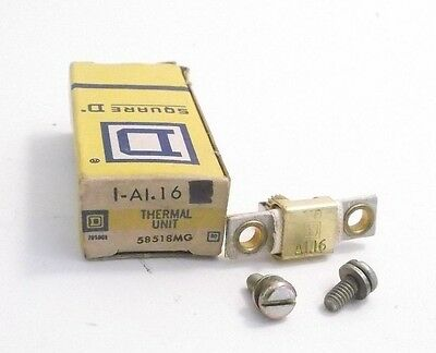 SQUARE D A 1.16 Overload Relay Thermal Unit - Prepaid Shipping