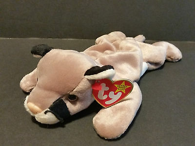 "1998 Ty Beanie Babies Canyon Cougar Plush 8"" Stuffed Animal Mountain Lion Cat"