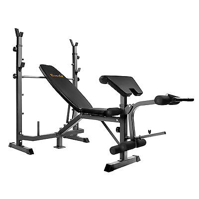 Multi-functional Fitness Bench Black Weight Lifting Exercise Workout Equipment