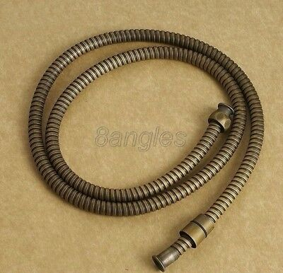 "59"" (1.5M) Antique Brass Hand Flexible Shower Hose Pipe 1/2"" Connection 8ba024"