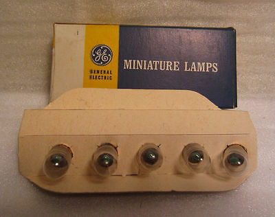 Box Of 5 GE General Electric 45 GE45 Miniature Light Bulb Lamp Bayonet Base USA