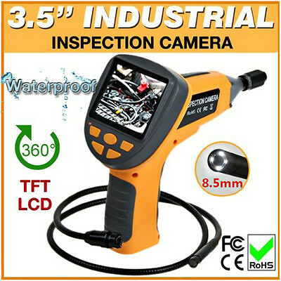 """3.5"""" LCD Borescope 4 LED Video Inspection Camera Cam Industrial 99H Endoscope"""