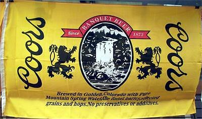 Coors 3'x5' Flag New Free Shipping