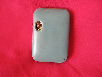 Buxton Key-Tainer Saddle Cowhide Vintage Used Blue