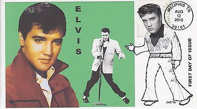 Jvc Cachets-2015 Elvis Presley Issue Fdc First Day Cover Topical Music Singer #1