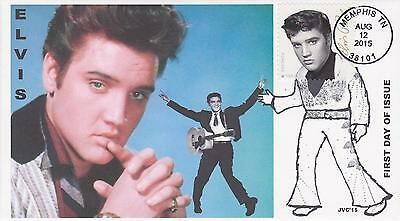 Jvc Cachets-2015 Elvis Presley Issue Fdc First Day Cover Topical Music Singer #3