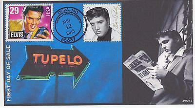 Jvc Cachets-2015 Elvis Presley Issue Fdc First Day Cover Mpp Cancel Dora, Mo