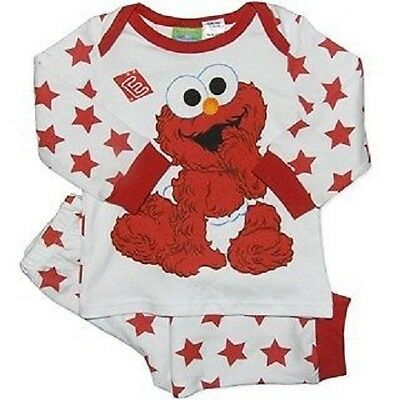 Licensed Baby Boy 2 Piece Baby Elmo Cotton Pyjama Sleepwear Outfit