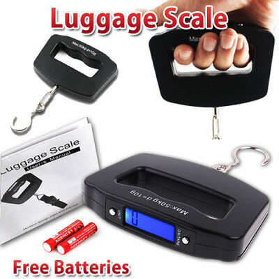 AU 2x Electronic Portable Digital Luggage Weight Hanging Scale Travel 50 KG 10G