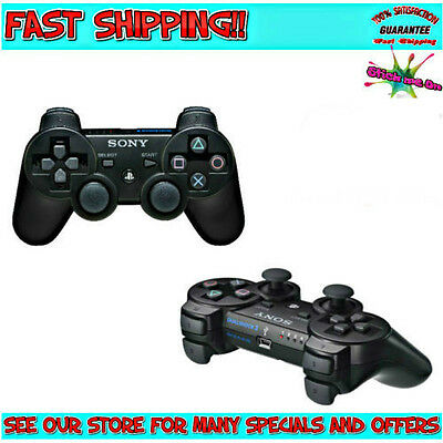 PLAYSTATION 3 | GENUINE DUALSHOCK SIXAXIS Black Wireless Controller For Sony PS3