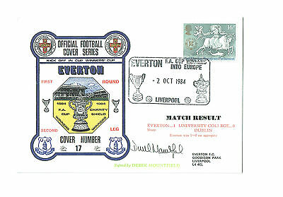 Official Football Cover Series No.17 - Everton - SIGNED by DEREK MOUNTFIELD
