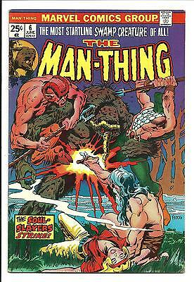 Man-Thing # 6 (Mike Ploog Cover & Art, June 1974), Fn/Vf