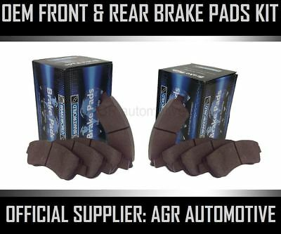 Oem Spec Front And Rear Pads For Toyota Avensis 2.0 Td (Cdt220) 2000-01
