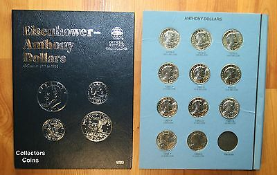 1979 - 1999  $1 Susan B Anthony Dollar Complete 11 coin PDS Set wWhitman Folder