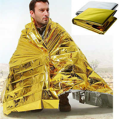 Waterproof Emergency Survival Blanket Rescue Space Foil Thermal Tent First Aid