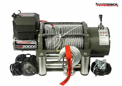 ELECTRIC WINCH 24V PW20000 lbs POWERWINCH ++++ GLOBAL BESTSELLER !!!!!