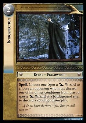 LORD OF THE RINGS TCG - 12U 29 - Introspection  - Decipher Tcg
