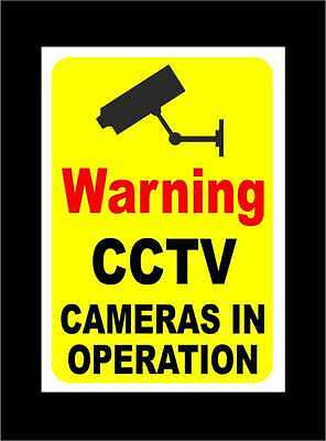 Warning CCTV Cameras In Operation Signs - All Materials & Sizes - Security