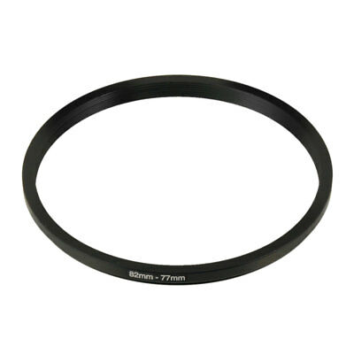 Camera Lens Filter Step Down Ring 82mm to 77mm Adapter Black