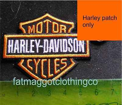 Harley Small Biker Patch - with or without matching enamel pin Motorcycle