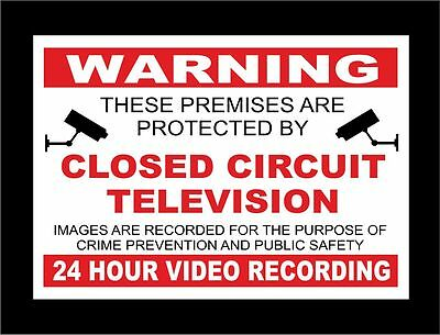 CCTV In Operation 24 Hour Recording In Process Signs - All Materials Sizes R/B