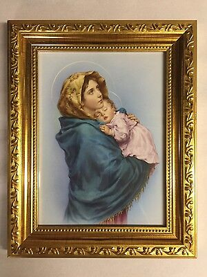 Madonna and Child in  5x7 Gold frame