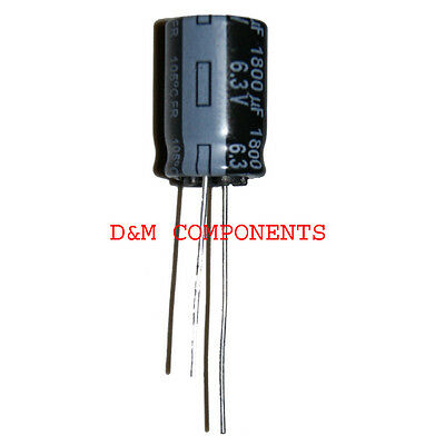 1800uF 6.3V Low ESR Electrolytic Capacitors 105'C Panasonic, Pack of  2,5 or 10