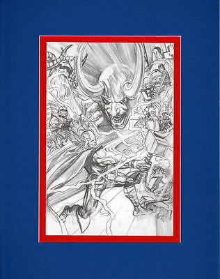 2015 SDCC Exclusive MIGHTY THOR COLLAGE PRINT PROFESSIONALLY MATTED Alex Ross